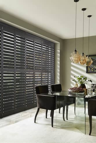 kitchen, dining room shutters