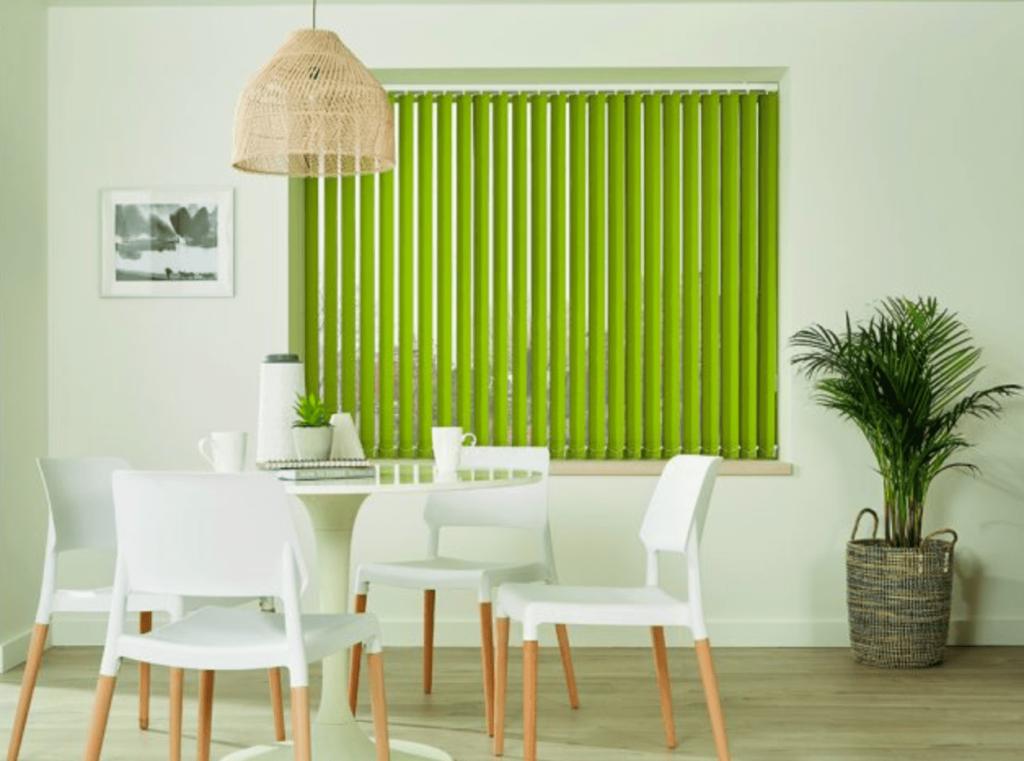 green vertical blind